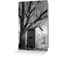 Kansas Country Outhouse Greeting Card