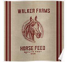 Walker Farms Horse Feed Vintage Sack Poster