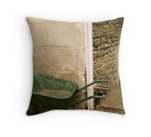 working in stone Throw Pillow