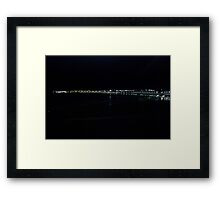 PORTRUSH BY DARK Framed Print