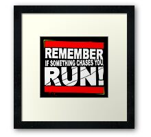 Run! Framed Print