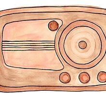 Vintage Radio by Monique Cutajar