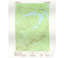 Maine USGS Historical Map Canada Falls Lake 104994 1989 24000 Poster