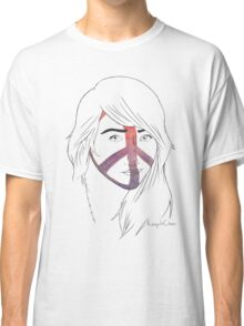 Girl With the Peace Tattoo Classic T-Shirt