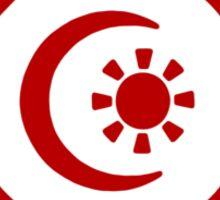 Mandala 34 Colour Me Red Sticker