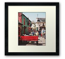 The Red Bench in Kinsale Framed Print