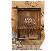 Sunday Morning Laneway Door Poster