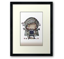 Nature Girl a la naturale Framed Print
