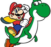 mario and yoshi by Erik shirts