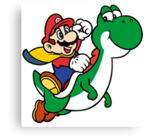 mario and yoshi Canvas Print