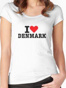 I love Denmark Women's Fitted Scoop T-Shirt