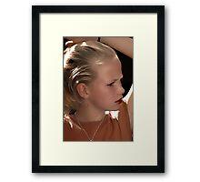 Preteen Model Framed Print