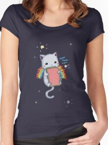Nyom Cat Women's Fitted Scoop T-Shirt