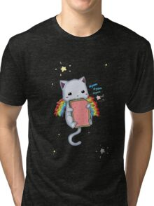 Nyom Cat Tri-blend T-Shirt