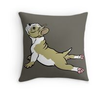Boston Bull Terrier Puppy Tan Beige  Throw Pillow