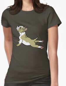 Boston Bull Terrier Puppy Tan Beige  Womens Fitted T-Shirt