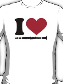 I love Clarinet T-Shirt