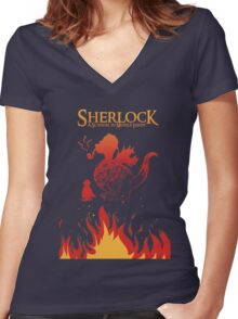 The Desolation of Smauglock Women's Fitted V-Neck T-Shirt