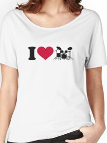 I love drums percussion Women's Relaxed Fit T-Shirt