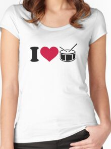 I love drums Women's Fitted Scoop T-Shirt