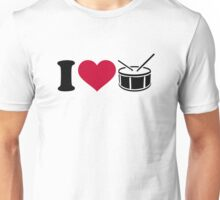 I love drums Unisex T-Shirt