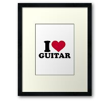 I love guitar Framed Print