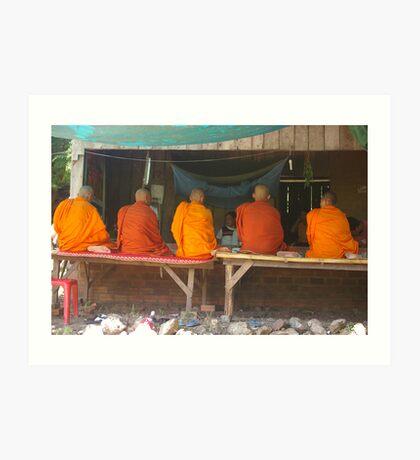 Cambodian Monks Art Print