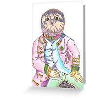 Oliver the Obnoxious Owl Greeting Card