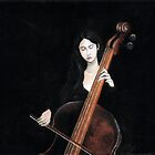 girl playing cello by ramya kapula