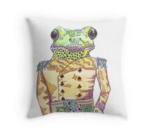 Wilfred the Witty White Lipped Tree Frog Throw Pillow