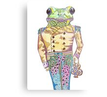 Wilfred the Witty White Lipped Tree Frog Metal Print