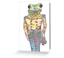 Wilfred the Witty White Lipped Tree Frog Greeting Card