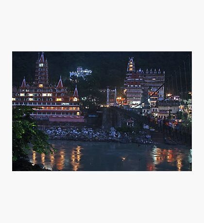 Rishikesh at Night - for Linaji Photographic Print