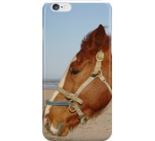 Horse On West Sands Beach iPhone Case/Skin
