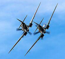 Two BBMF Spitfire PR.XIXs by Colin Smedley