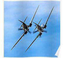 Two BBMF Spitfire PR.XIXs Poster