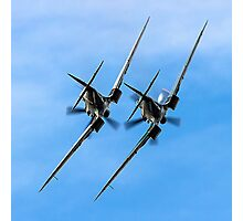 Two BBMF Spitfire PR.XIXs Photographic Print