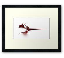 Here Be Dragons Framed Print
