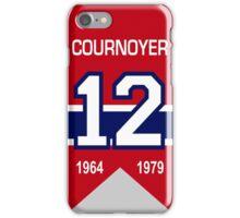 Yvan Cournoyer - retired jersey #12 iPhone Case/Skin