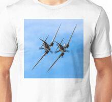 Two BBMF Spitfire PR.XIXs Unisex T-Shirt
