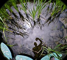 Reflection on water. by Jean Beaudoin