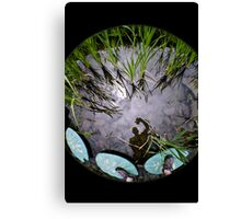 Reflection on water. Canvas Print