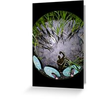 Reflection on water. Greeting Card