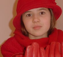 Young Lady In Red by Fara