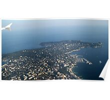 View over Cap d'Antibes Poster