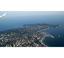 View over Cap d'Antibes Photographic Print
