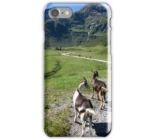 Hiking with the Goats iPhone Case/Skin