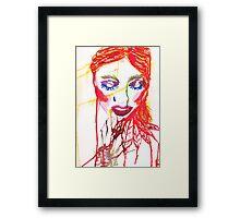 Ink Girl Framed Print
