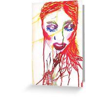 Ink Girl Greeting Card