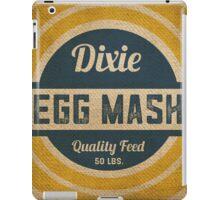 Vintage Burlap Dixie Egg Mash Feed Sack iPad Case/Skin
